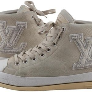 Louis Vuitton Fastball Suede High Top Sneakers